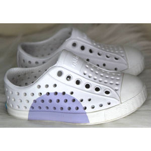 Native shoes white purple infant C5 lightweight